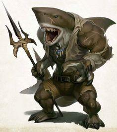 wereshark, pathfinder, rpg, monster