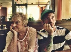 @joshuadun: grandma wanted to smile for the camera. I told her the kids like it more when you act disinterested and blasé in photographs.