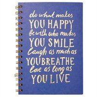 3 Subject Spiral Notebook Blue, Do What Makes You Happy