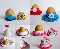 4 Crochet egg cozy PDF pattern | Craftsy