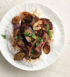 Eggplant and Beef Stir-Fry
