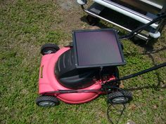 DIY solar powered lawn mower. Shut. Up. I'm gonna make this.