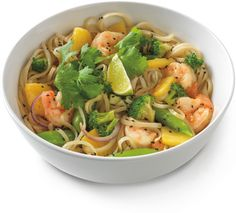 Thai Green Curry with Shrimp Shrimp Noodles, Curry Noodles, Rice Noodles, Curry Vert, Green Curry Sauce, Noodles And Company, Curry Shrimp, Food Staples, Food Cravings