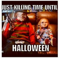 Freddy Krueger & Chucky, these are my two favorites Horror Movie Characters, Horror Movies, Horror Villains, Arte Horror, Horror Art, Halloween Horror, Halloween Fun, Halloween Painting, Horror Pictures