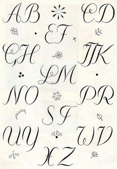 Embroidery monogram patterns from 1950 by Vakuoli, via Flickr  | followpics.co