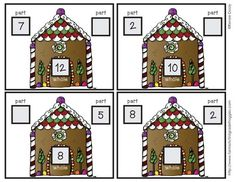 Gingerbread Math Center Fun- part part whole