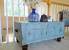 Vintage Trunk Table Coffee Table by madenewdesignct on Etsy