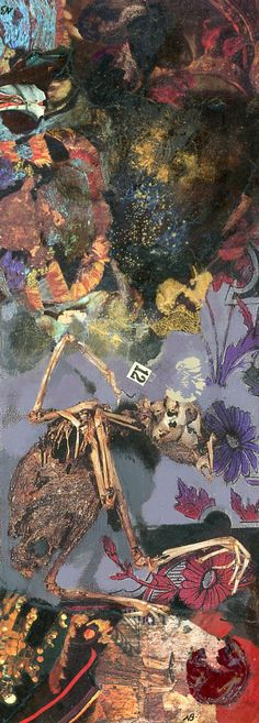 Bird at Prey. Original collage by Nick Bantock.