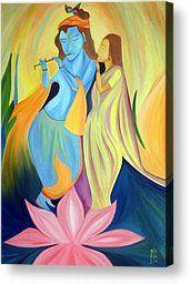 ART : Radha-Krishna - a Divine Love - Artist Dipali Deshpande @ Fine Art America