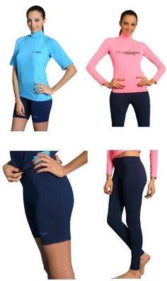 Womens UV Sun Protection Swimwear Clothing Rash Guards / Shorts  / Surf Tights #EcoStinger #RashGuardsShortsSurfTights