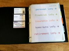 Little Black Book- Simple Organized Living.  How I Store and Organize Our Important Info. + FREE Printables