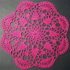 Easy Doily Patterns for Beginners | Crochet Petite Spiral Pineapple Doily Pattern