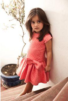 Sierra Julian Girls Toddlers and Tweens Coral Portofino Bow Dress