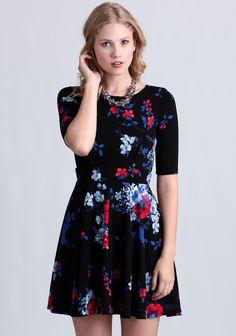 Kiss Me At Midnight Floral Dress at #Ruche @shopruche
