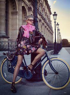 Charlene Hogger by David Burton for Elle US January 2016 - Gucci Spring 2016