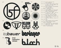 Eric Carl Collection of vintage logos from a edition of the book World of Logotypes jpg Logos Corporate Branding, Logo Branding, Symbol Design, Logo Design, Graphic Design, Trade Logo, Trademark Symbol, Logo Luxury, Typo Logo