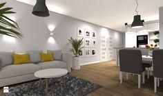 Wybrane wnętrza mieszkania w Warszawie - wersja klasyczna/ skandynawska - Średni salon z jadalnią, styl eklektyczny - zdjęcie od Medyńscy Projektowanie