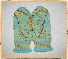 Ravelry: Project Gallery for We Are Like Butterflies Mittens pattern by Emily Bujold