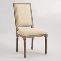 One of my favorite discoveries at WorldMarket.com: Natural Linen Square-Back Paige Dining Chairs, Set of 2