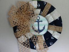 Nautical Wreath-Anchor Wreath-Double by BearCountryCraftz on Etsy
