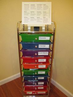 Montessori Style Preschool at Home - free planning charts, explanation, labels, tips for organizing and more!   From HappyandBlessedHome.com