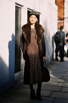 vintage inspired look | London Fashion Week AW 2014