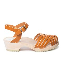 Look what I found on #zulily! Brown Palma Leather Sandal #zulilyfinds