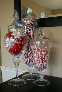 candy cane jars
