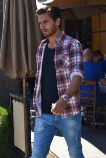 Scott Disick Styles wearing Plaid shirt, Denim Jeans, and Common Projects Sneakers out in Beverly Hills | UpscaleHype