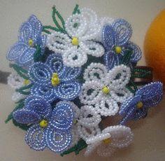 beaded flowers