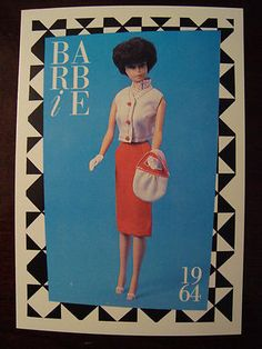 "Barbie Collectible Fashion Trading Card  /"" Golden Evening /""  Gold Purse 1964"