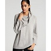 C by Bloomingdale's Cashmere  Cowlneck High Low Sweater