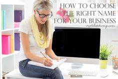How to choose the right name for your business.   Notcom smallbiz AD