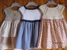 Trendy sewing patterns for kids dress fabrics ideas Sewing Patterns For Kids, Baby Knitting Patterns, Sewing For Kids, Knit Baby Dress, Crochet Baby Clothes, Crochet Girls, Crochet For Kids, Baby Fabric, Knitting For Kids