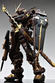 GUNDAM GUY: PG 1/60 MBF-P02 Gundam Astray [Red Frame] Louis Vuitton Custom - Customized Build