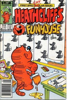 "A 1987 spin-off of ""Heathcliff"" by Marvel's imprint Star Comics. Features reprint of Heathcliff, as well as some new material. Children's Comics, Star Comics, 80 Cartoons, Marvel Universe, Comic Strips, Marvel Dc, Vines, Comic Books, Superhero"