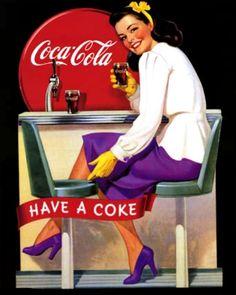 Coca Cola Retro Ad