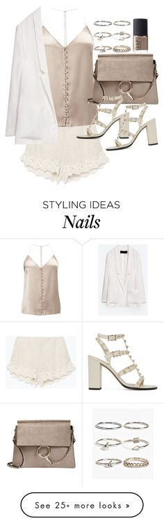 """Untitled #19677"" by florencia95 on Polyvore featuring Zara, Miss Selfridge, Boohoo, Chloé, NARS Cosmetics and Valentino"