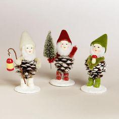 Pinecone Gnomes, Set of 3 | World Market