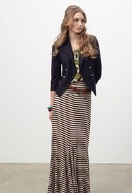 long long skirt! loving the blazer as well!