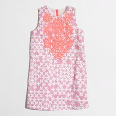 Factory girls' embroidered shift dress : Dresses | J.Crew Factory