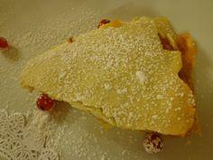 Apple honey tart mille-feuille with calvados icecream @ Ristorante Madonna della Neve