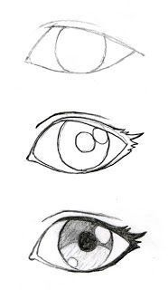 New Eye Drawing Sketches Easy Ideas Naruto Drawings Easy, Cool Art Drawings, Pencil Art Drawings, Art Drawings Sketches, Sketch Drawing, Drawing Art, Eye Sketch, Cartoon Sketches, How To Sketch Eyes