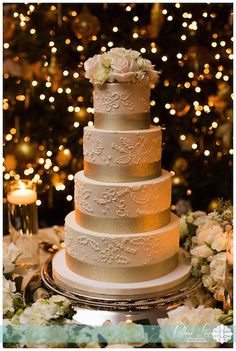 Wedding season is coming up soon! We thought we'd kick it off by sharing some of our favorite wedding cakes we've made recently! Which one is your favorite? Fondant Wedding Cakes, Wedding Season, Sweet, Chapel Hill, Gold Lace, Desserts, Lace Wedding, Food, Style