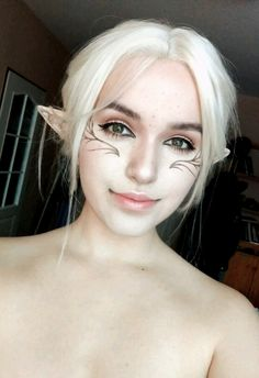 Nalia Lavellan © makeup challenge and inspiration :) ❤️ this talented artist! Fairy Cosplay, Elf Cosplay, Cosplay Makeup, Costume Makeup, Elven Makeup, Fantasy Makeup, Makeup Inspo, Makeup Art, Makeup Inspiration