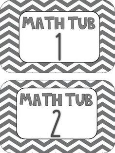 Free Math Tub Labels chevron