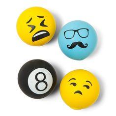 Buxton Men's Emoji Stress Massage Ball,