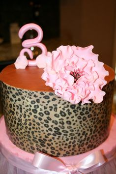 Pink Cheetah By bayousmiles on CakeCentral.com