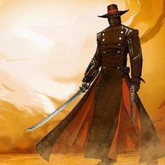"""Samurai Cowboy: ut every day there's a new thing comin' The ways of an Oriental view The sheriff and his buddies with their samurai swords You can even hear the music at night  —The Doobie Brothers, """"China Grove""""  Essentially a melding ofThe Wild WestandFeudal Japan, even if the setting also takes place in the future or hasCattle Punkelements.  The earliest association between samurai and gunslinger tropes was probablyAkira Kurosawa, who modeled several of his samurai films after…"""
