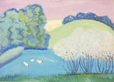 Sheep on Sylvan Scene, Milton Avery 1947